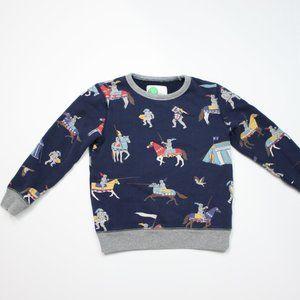 Mini Boden Navy Knight Print Sweatshirt Sz 7-8y